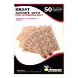 Papel Adhesivo Kraft Imprimible A4/200g/100hojas
