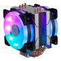 Cooler Universal Fan Duplo Face Led Rgb P/processa Intel/amd Original