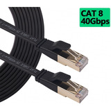 Cable Rojo Plano Categoría 8 Cat8 Rj45 Utp Ethernet 1m 40gbp