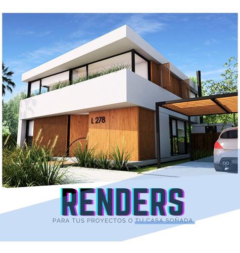 Planos, Arquitecto, Proyecto, Render 3d, Diseño Construccion