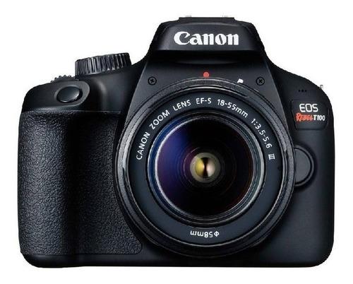 Cámara Profesional Réflex Canon Eos Rebel T100 Barata Nueva