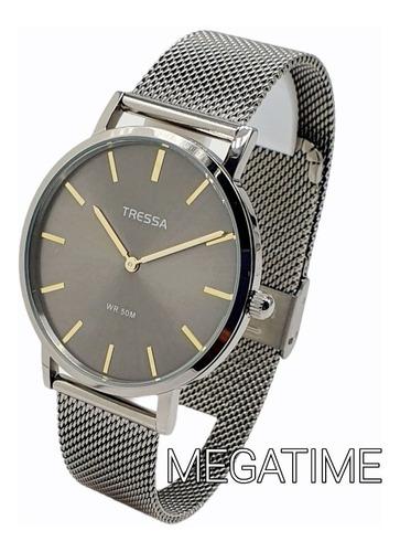 Reloj Tressa Hombre Malla Tejida Sumergible 50m  Original !