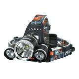 Linterna Cabeza Minero 3 Led Recargable T6 + Luz Emergencia