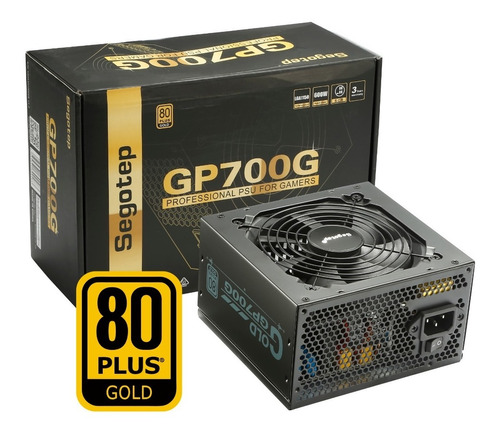 Fuente Gamer Segotep Gp-700g Certificada 80 Plus Gold