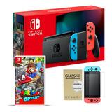 Nintendo Switch + Super Mario Odyssey + Vidrio, Macrotec