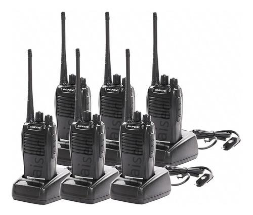 Kit 6 Radio Comunicador Walktalk Talkabout Profissional 777s
