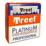 Caja De Filos Treet Platinum Navaja Afeitar Barberia X 100