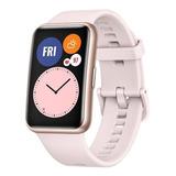 Huawei Watch Fit 1.64  Caja De  Fibra Polimérica  Rose Gold Malla  Sakura Pink De  Silicona Tia-b09