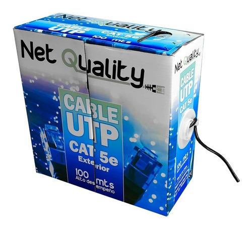 Cable Utp 100m Cat 5e Exterior X 100 Metros Cctv Redes Envío
