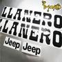 Calcomanías Jeep Llanero Emblemas Repuesto Rústico Jeep Wrangler