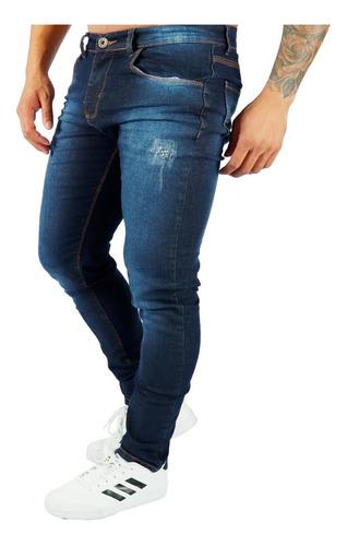 Calça Jeans Sarja Masculina Skinny Lycra Colorida Brim