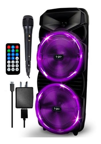 Parlante Portatil Bluetooth 3000w Potente + Microfono +luces