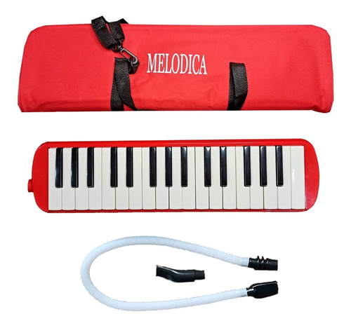 Melodica 32 Teclas Piano Con Estuche Y Dos Boquillas
