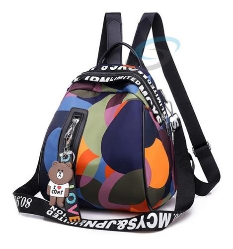 Bolsa Mochila Mujer Juvenil Cierre Antirrobo Back Pack Bk027