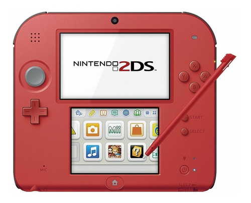 Nintendo 2ds Red Edition 32gb