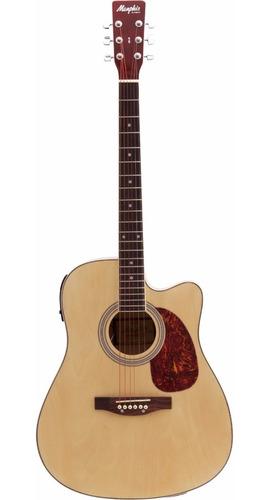 Violão Elétrico Folk Aço Md-18 Tagima Natural Memphis Cutway