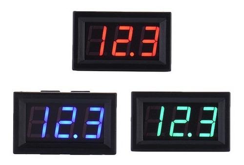Voltimetro Digital De Pared Panel 3 Digitos 0 A 30 V Display