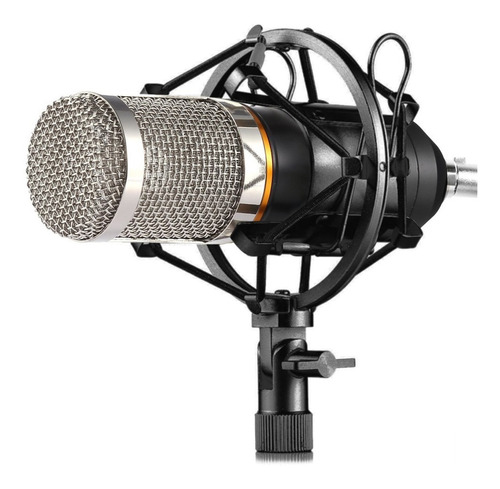 Set Microfono Condenser Estudio Profesional Omnidireccional