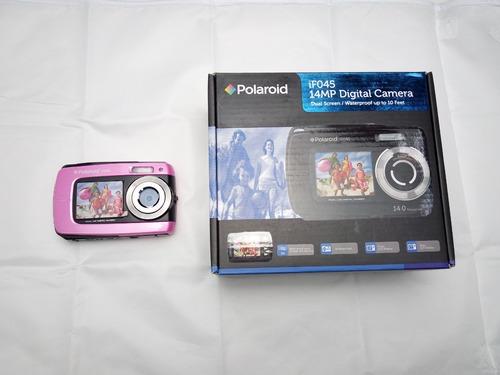 Cámara Acuática Polaroid If045 + Estuche + Mini Tripié