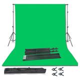 Set/ Soporte Estudio Fotográfico Con Chromakey Verde 2m X 3m