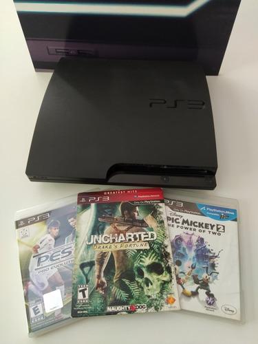 Playstation 3 Slim 160gb Excelente + 3 Juegos, Sin Joystick.