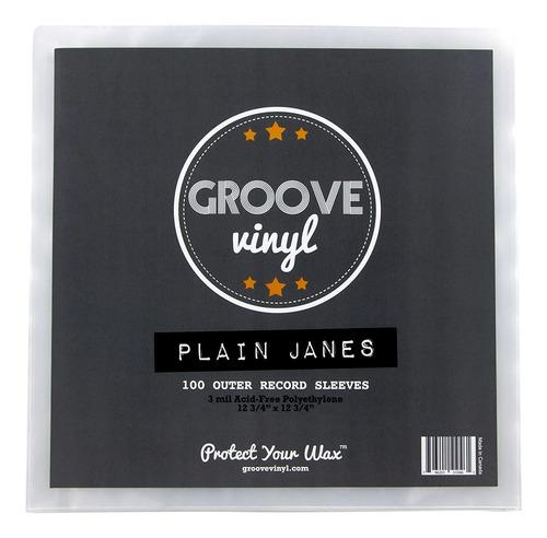 Fundas Para Discos De Vinilo Groove De 32x32cm, 100u.