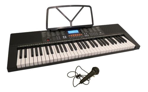 Teclado Órgano 61 Teclas 5 Octavas + Micrófono + Fuente