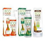 Eco Hair Combo Anticaida Crecimiento Cabello Locion+sham+aco