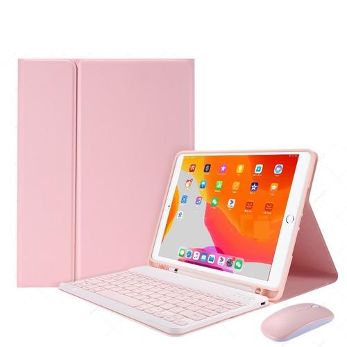 Funda Con Teclado Español Con Ratón Para iPad 10.2inch 7/8th