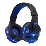 Headset Gamer Knup Kp-397 Preto E Azul
