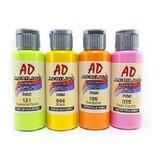 Set Acrílicos Ad 60 Ml X 52 Unidades Pintura Acrílica Envíos