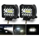 2 Faros Reflector Auxiliar Led 60w Spot Luz Blanca 4x4 A-vip
