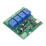 Smart Rele Wifi+rf Ewelink 4 Canales Na/nc  5vdc/7-32v Ac/dc