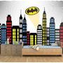 Papel Parede Adesivo Quarto Iantil Batman Cidade Gothan Hd Original
