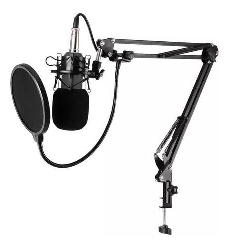 Micrófono Con Brazo Estudio Condensador Podcast Clicshop