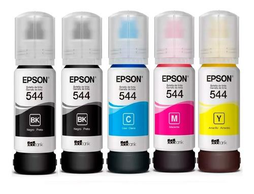 Kit 5 Tintas Epson 544 Original T544 L1110/l3110