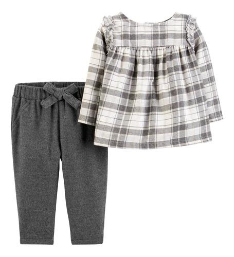 Carters Conjunto 2p Camisa Y Pantalón Niña-bb 12m