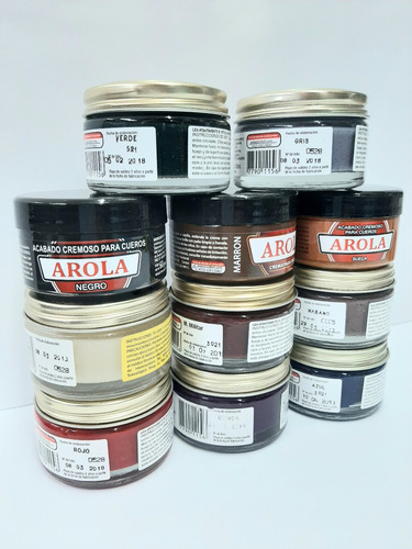 Crema Para Cuero Arola Pote 60 Cc Varios Colores Distrilafle