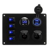 12v Panel De Interruptor Basculante De 4 Cuadrillas Para