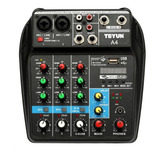 Consola Interfaz Audio Mixer 4 Canales Tu04  Usb Bluetooth