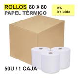 Rollos De Papel Térmico 80x80 Para Impresora Pos