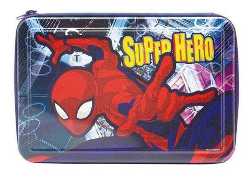 Cartuchera Spider Man Super Hero Metalizada 1 Piso