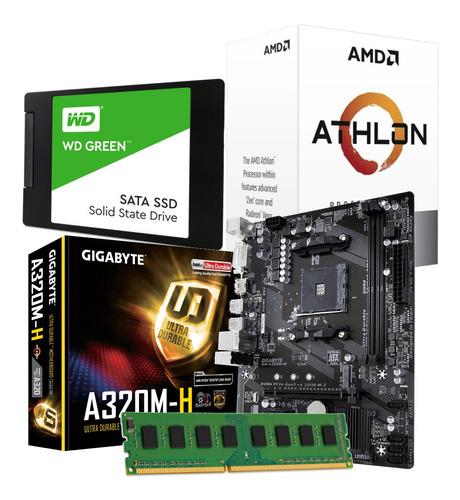 Combo Actualizacion Pc Amd Athlon 3000g + Mother 8gb Ssd 120