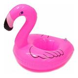12 Portavasos Inflables Flamingo