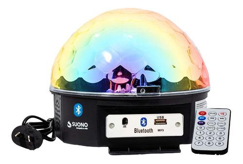 Bola Luz Led Rgb Audioritmica Media Esfera Alta Luminosidad Efectos Luces De Colores Fiestas Eventos Ambientación
