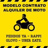 Modelo Contrato Alquiler De Moto Delivery Rappi Pedidosya !