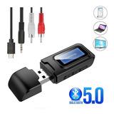 2 En 1 Usb Bluetooth 5.0 Transmisor Receptor Con Lcd