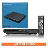 Dvd Player Multilaser 3 Em 1 Bivolt Cd/dvd Preto Sp391