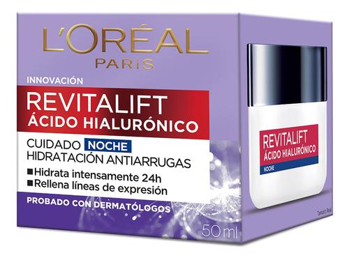Crema Noche L'oréal Revitalift Acido Hialulronico X 50 Ml