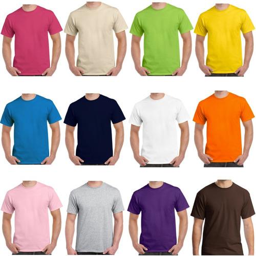 Camisetas Cuello Redondo En Algodón 180 Gramos En Colores